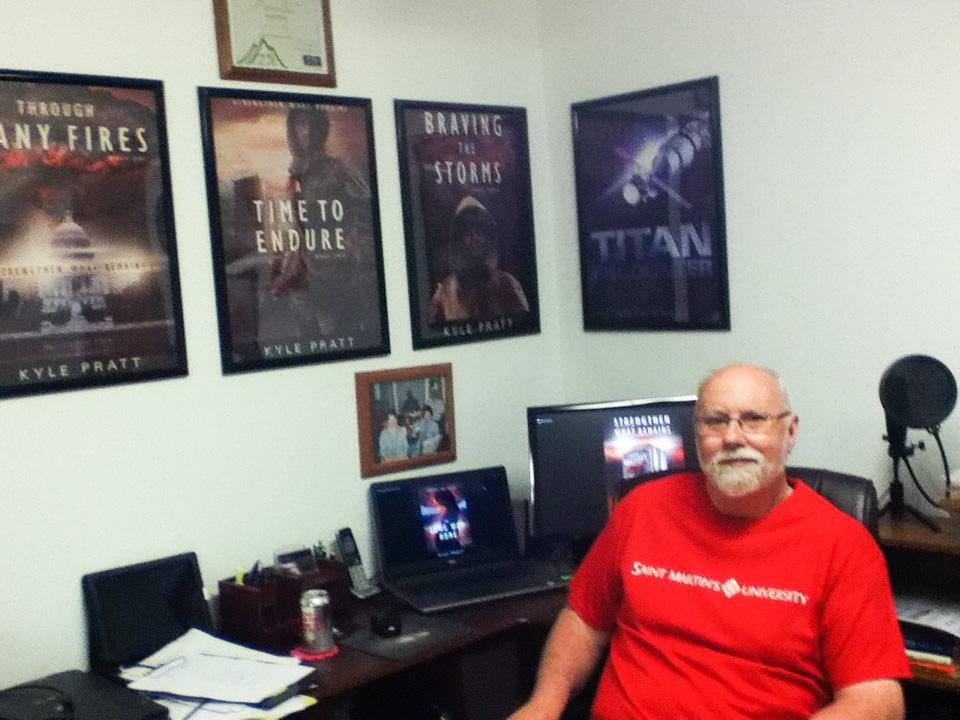 Kyle Pratt in his office