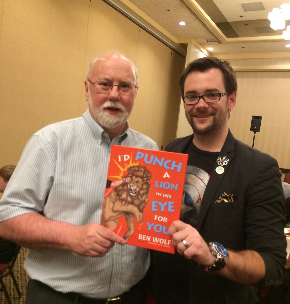Kyle Pratt and Ben Wolf with his new book at OCW 2016