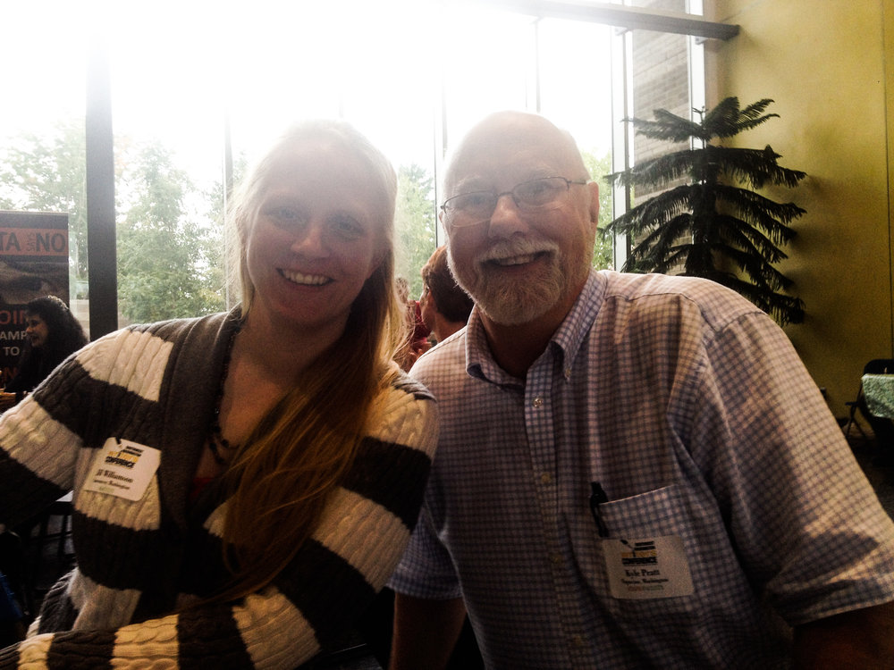 Authors Jill Williamson and Kyle Pratt at the Southwest Washington Writers Conference 2016