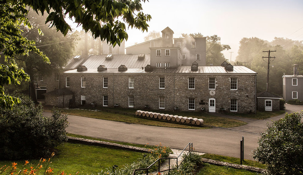 The Woodford Reserve distillery, built in the 1800's
