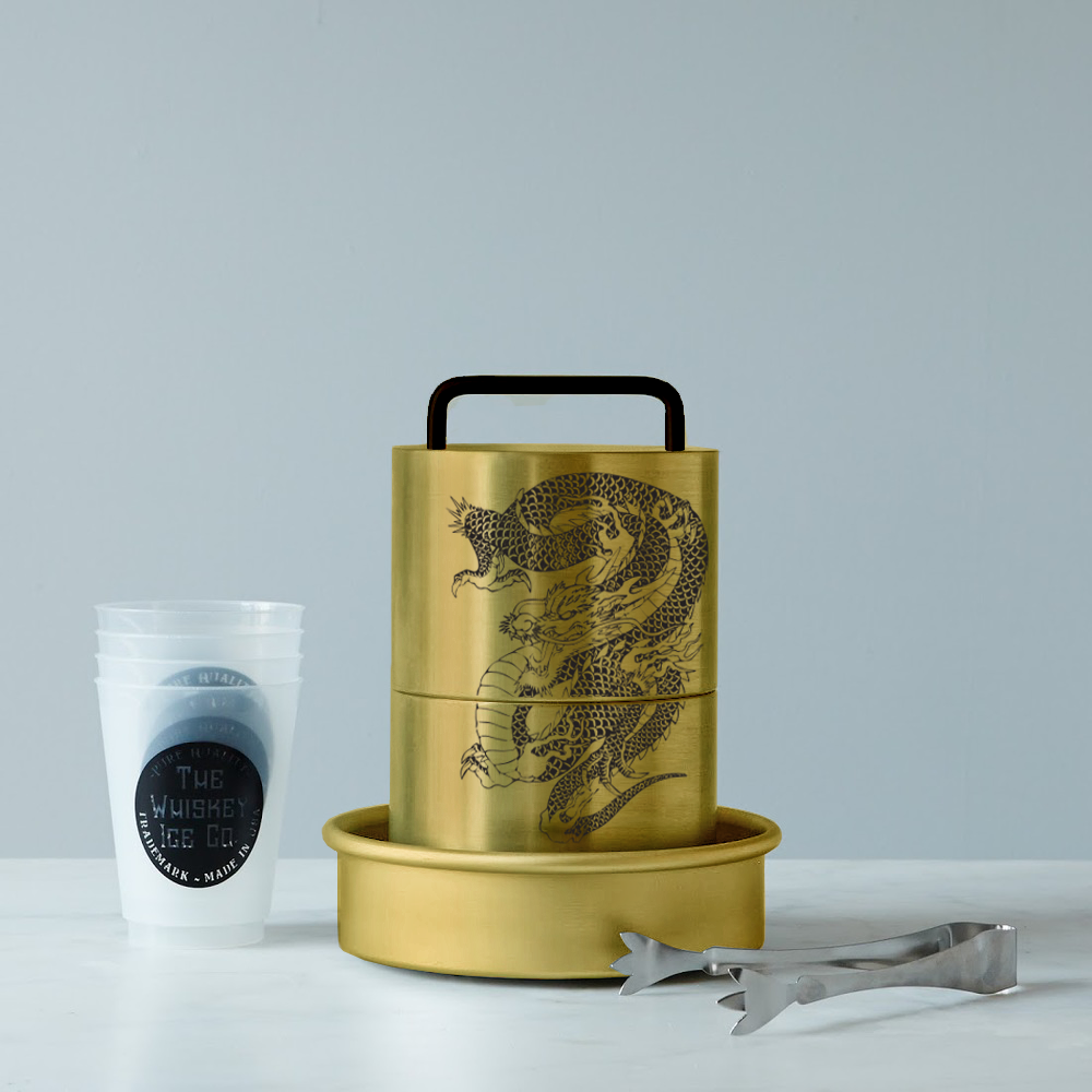 Our Limited Art Series: Dragon Spherical Ice Ball Maker in gold