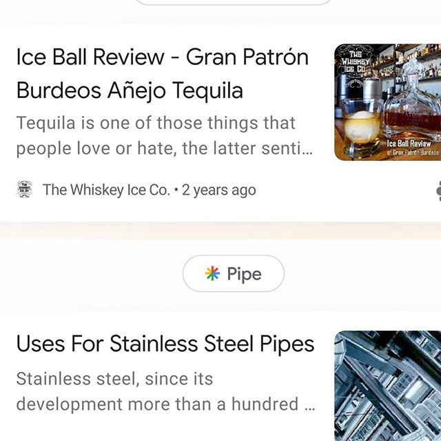 A quick reminder of how advanced our overlords at Google are with their news selection algorithm... This just popped up on our news feed. Look carefully at the ice ball review article. They really know their stuff!  Cheers!  https://whiskey-ice.com/