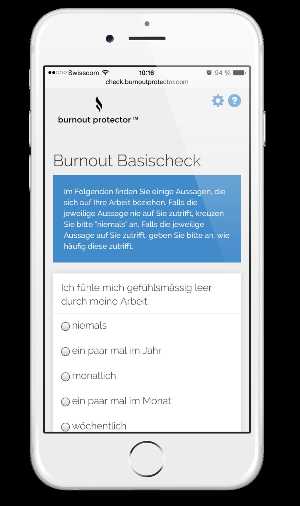 Burnout Risiko Test  BRIX™ (Burnout Basis Check)