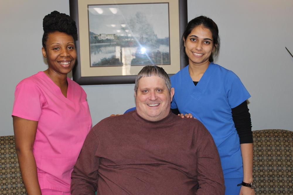 Mr. Ralph with OT - Trevonna Gibbons, and PT - Tanvi Raykar