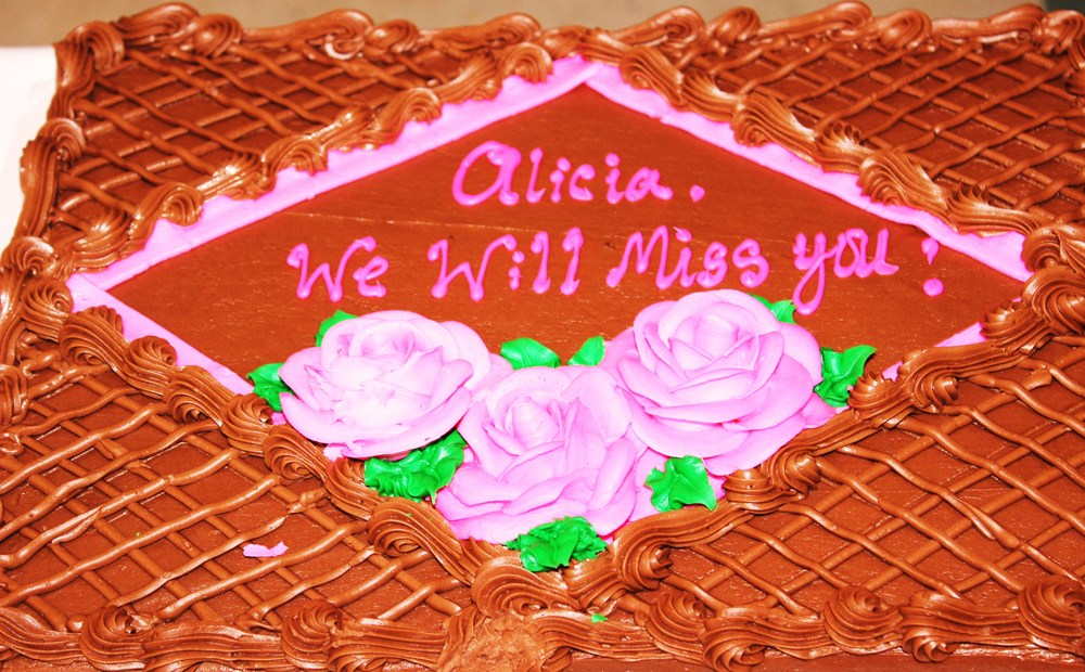 We're all going to miss you, Alicia!