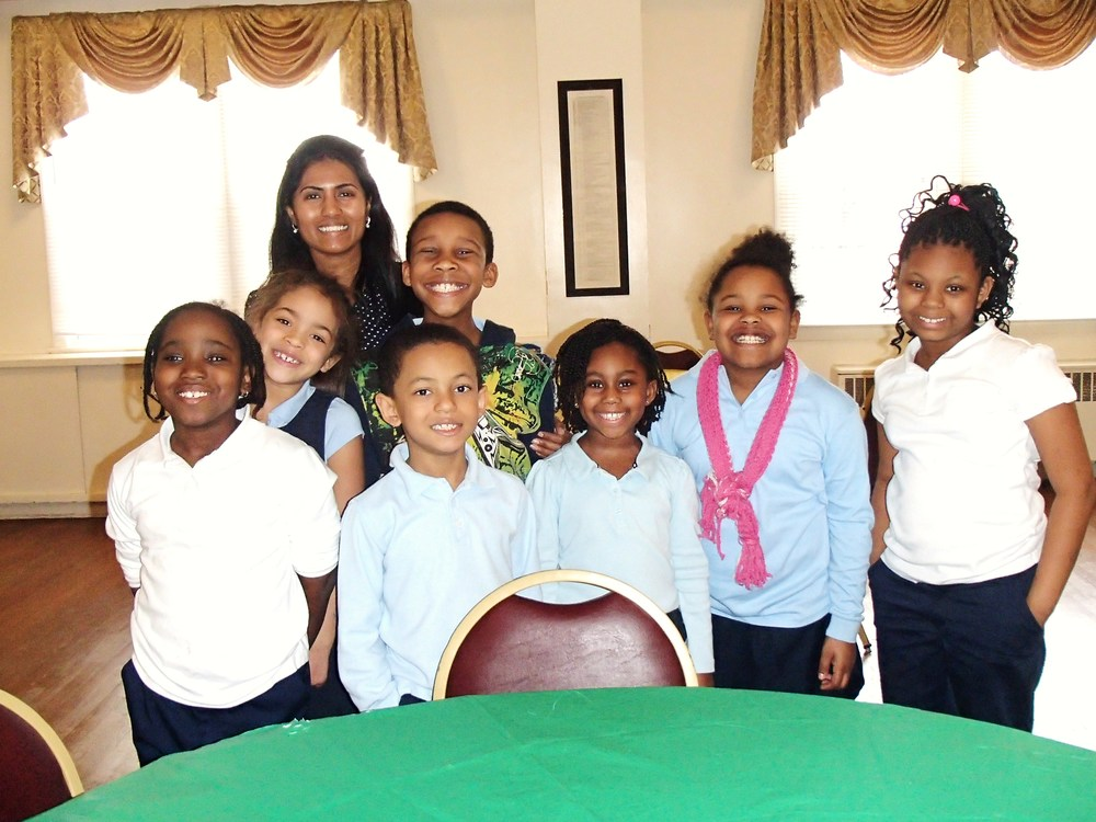 Activity Director, Rebeka Sultana, and students of Mount Jezreel Baptist Christian School