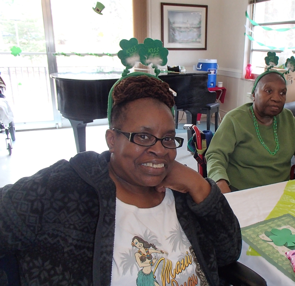 Ms. Yvonne Matthews (left) and Ms. Willie Mae Williams (right) are enjoying some of the Celtic music played throughout the day.