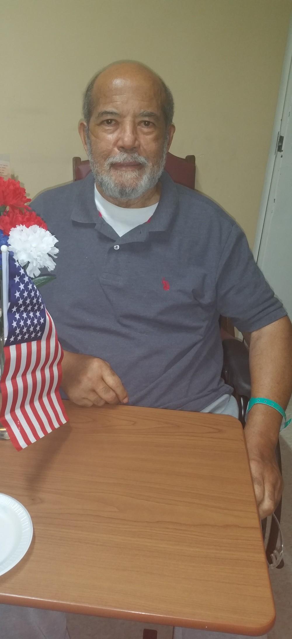 Our Vietnam veteran, Mr. John Sullivan, is ready to enjoy the day