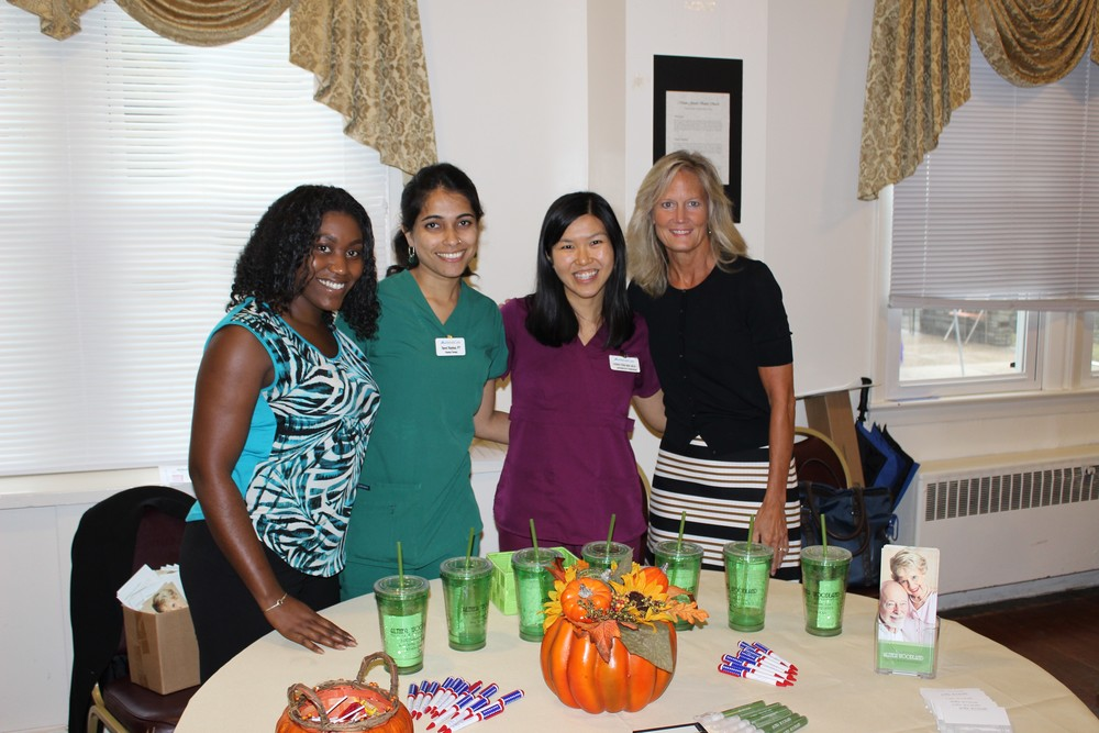 Our Community Day team included Julia (admissions/marketing director), Tanvi (physical therapist), Teng Yee (speech therapist), and Michelle (Administrator)