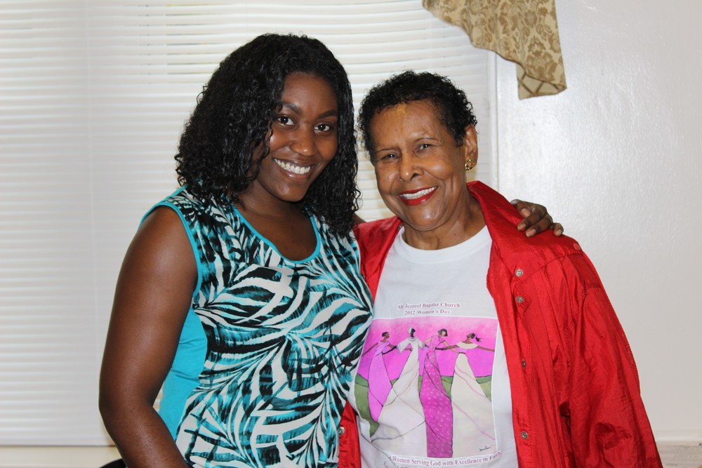 Julia was greeted by Evelyn Wright's (current resident approximately 2 years) cousin who resides in the community and is also a member at Mount Jezreel Baptist Church