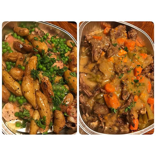 Chicken Vesuvio or Pot Roast tonight?  My client has some options.  Both are ready to reheat and serve.  #cheftony #elevatefood #100daysofcleaneating #chicagofoodpic #instapic #instafood #foodie #chicagofoodie #chicagofoodscene #foodpic #healthyeating #cleaneating #eatright #eathealthy #eatclean #dinner #🍴#nofilter