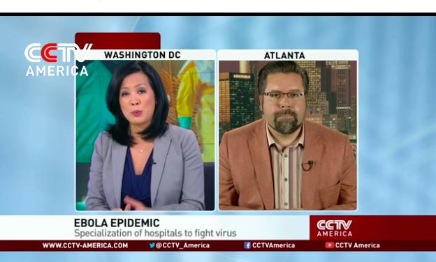10/15/14 Ebola Update for CCTV America.