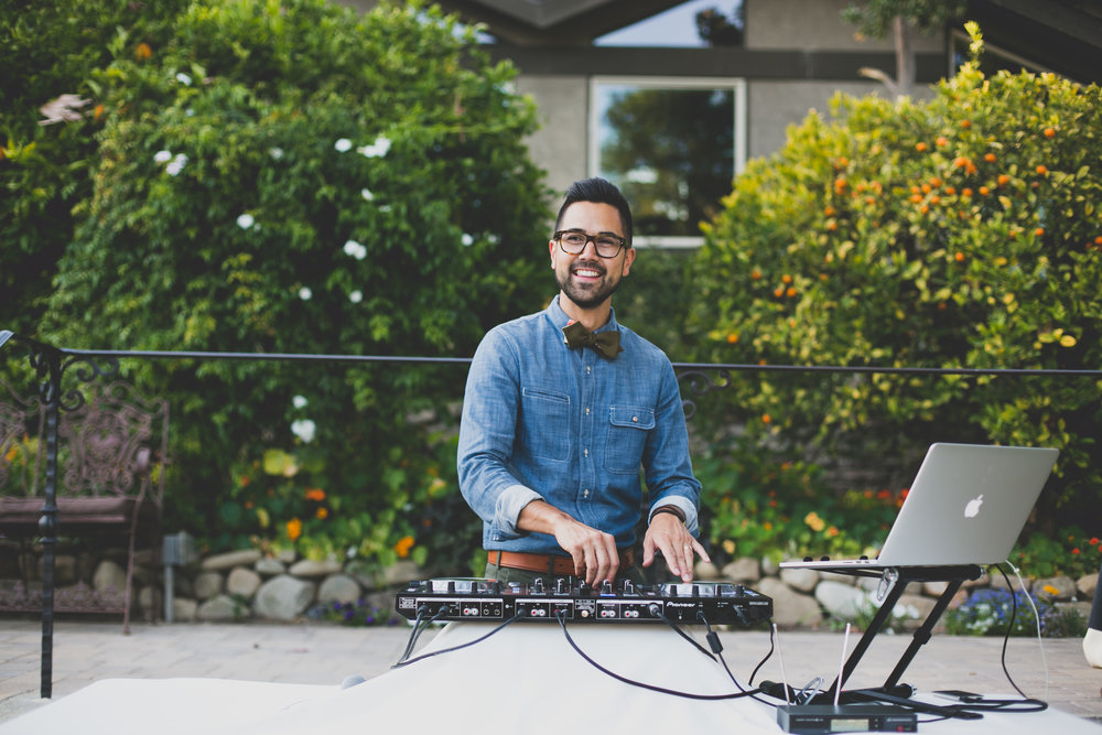 - Whether you just started your search for a wedding DJ, or you're knee deep in the plethora of meh options, I can help alleviate your stress and end that search today.  My approach is simple: your wedding should tastefully reflect your personalities and should be the best party you'll ever go to. Period.