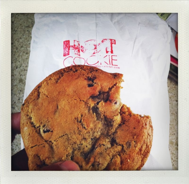 Hot Cookie: Castro, SF. Some of the best cookies around!  I just had these hand delivered to my front door-step for breakfast! (they do not deliver, find your own cute delivery girl!)