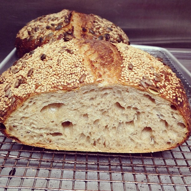 Sunflower, sesame, pumpkin seeds #wildyeast #sourdough #soupmama #bread #countryloaf