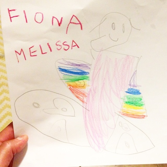 Reasons why I love my job. Client's 3.5 year old daughter. Rainbows! She knows my secret! 👭🌈