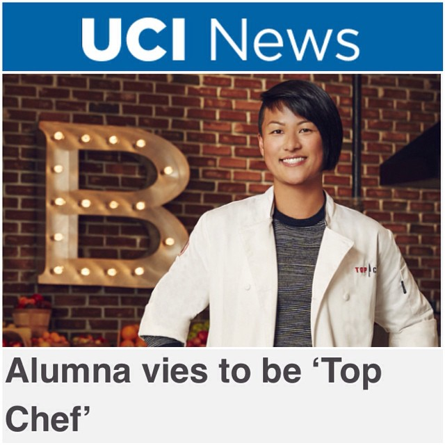Look for my #topchefboston interview with my alma mater @ucirvine, thanks for the great article!  http://bit.ly/1ti1rLL  #tc12 #teamMelKing #ucirvine