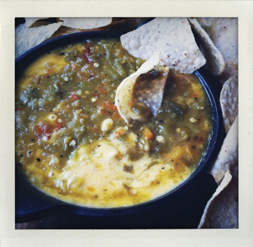 Green chili queso from green chili kitchen!