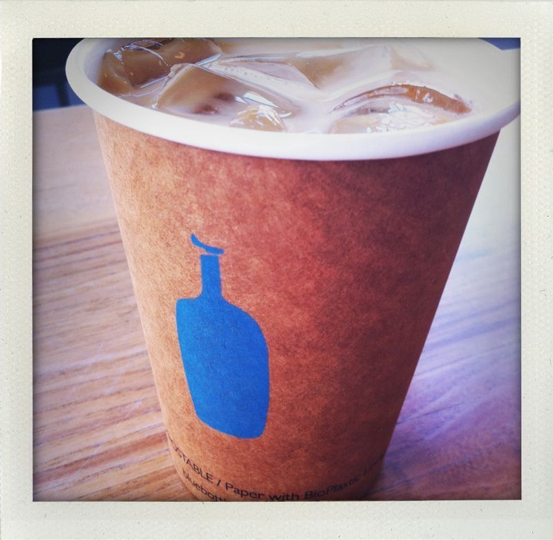 Blue bottle: SOMA. New orleans style iced coffee