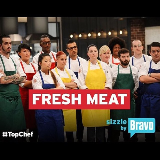 Tonight the battle begins on @bravotv's #Topchef at 10pm. #freshmeat #tc12 #topchefboston #teammelking