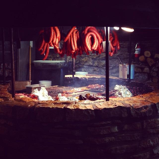 MEAT. #bbq @hillarybenzell (at The Salt Lick (BBQ))