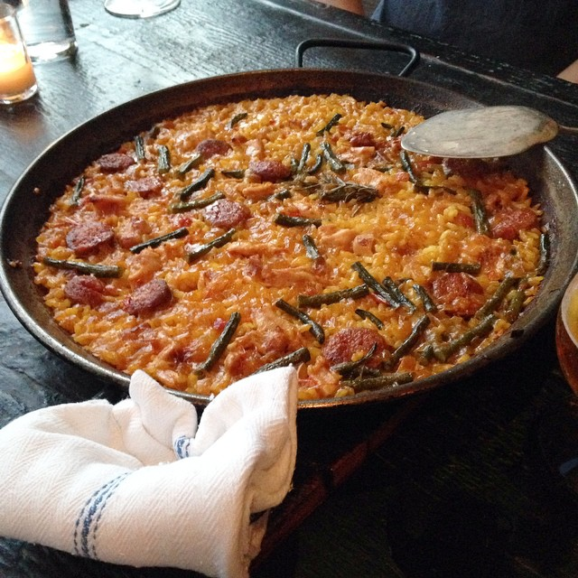 Damn good paella! @duende  (at DUENDE)