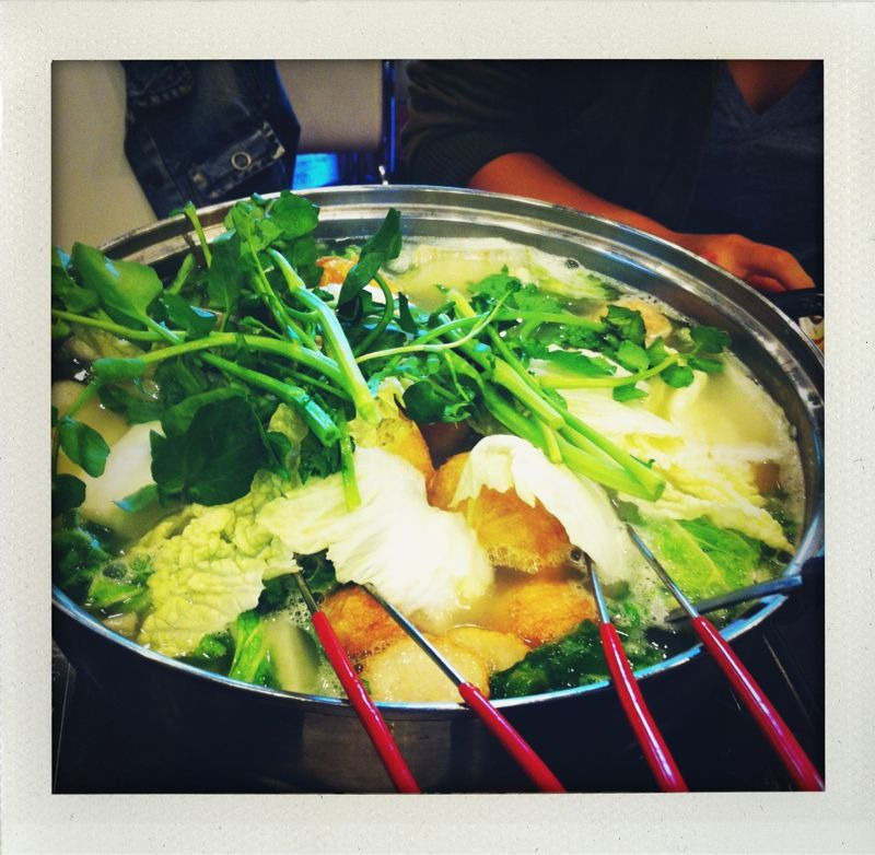 The pots: inner sunset, SF. Chinese hot pot!