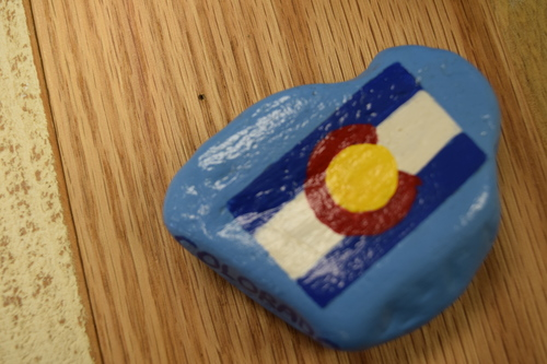 Carol Curtis - Carol can paint just about anything!  She has painted several custom boxes for our customers and there hasn't been anything she couldn't do.  We have boxes with a variety of animals, recipe boxes, cute wooden toll boxes and stones painted with the Colorado Flag.  It may take a bit of time for custom work to be done but you will not be disappointed!
