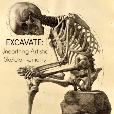 EXCAVATE: UNEARTHING ARTISTIC SKELETAL REMAINS,  published by  Out of Step Books  (FEATURED ARTIST)   to be released October 2014