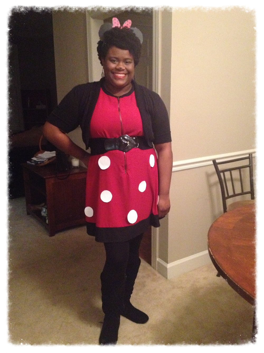 Minnie Mouse costume for Halloween 2015