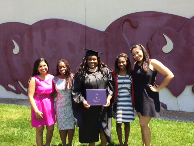 My line sisters and me at my May graduation