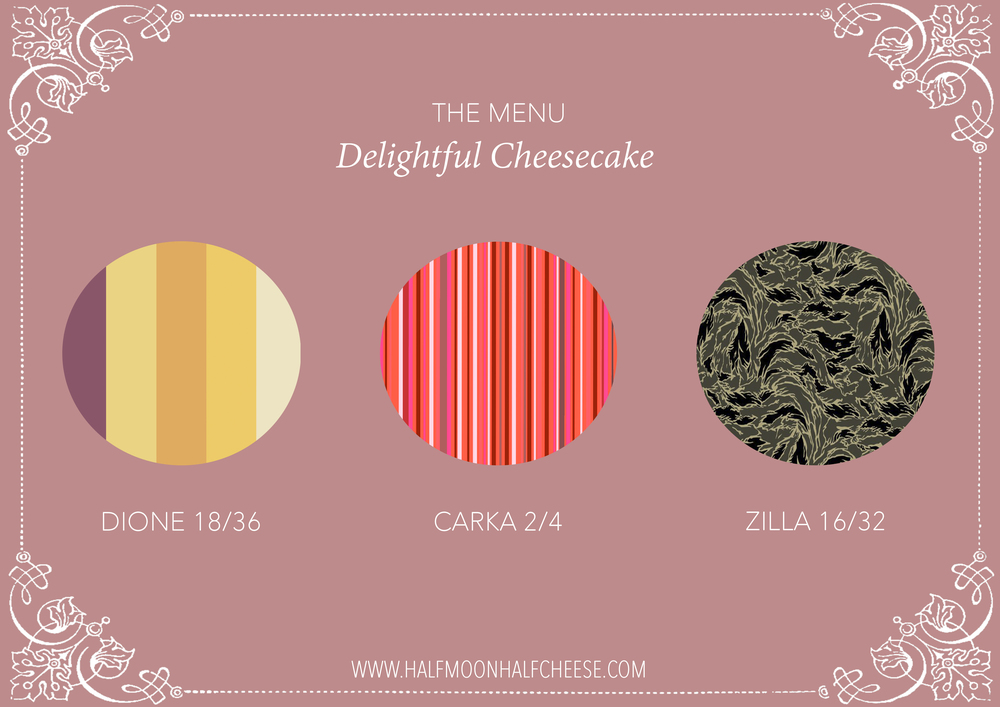 'Delightful Cheesecake' Digital Poster.  (Half Moon Half Cheese)     A poster for the advert; 'Delightful Cheesecake'. A collection advert featuring the 2nd series from the brand. Design work inspired by a menu design featured in a local cake shop,  The poster aims to give a taster on whats to come. (Fashion Visual) Website:  www.halfmoonhalfcheese.com