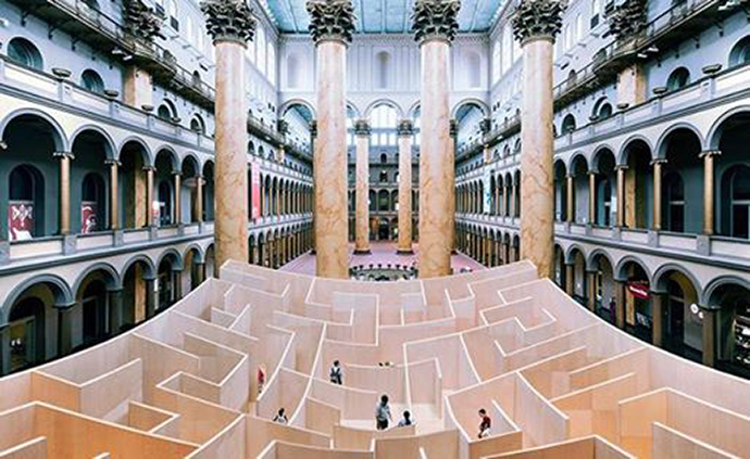 The Big Maze exhibit