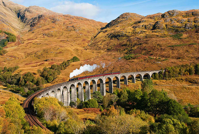 Viaduct Glenfinnan, Scotland   ( straight our of the Harry Potter world! )