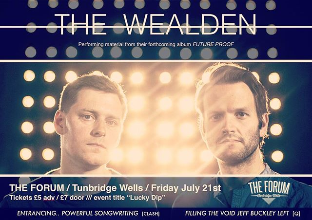 "That's right folks we are playing @twforum on July 21st in #tunbridgewells. Come and hear us rock-out along with a surprise lineup of other local talent as part of The Forum' ""Lucky Dip"" event. https://www.twforum.co.uk/events/2017-07-21-lucky-dip-night-the-forum  #livemusic #kent #rock #artrock #guitar #bass #drums #voice #jeffbuckley #davidbowie #newmusic #unsigned #thenational #everythingeverything #radiohead #uk"