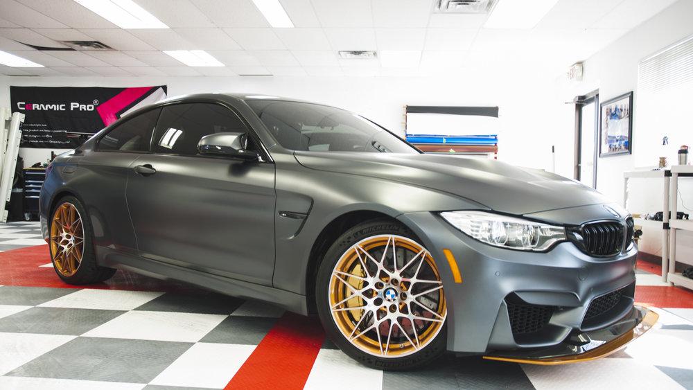 BMW M4 GTS - Matte PPF, Ceramic Pro Coating, Wheels Off, Ceramic Tint, Custom Vinyl