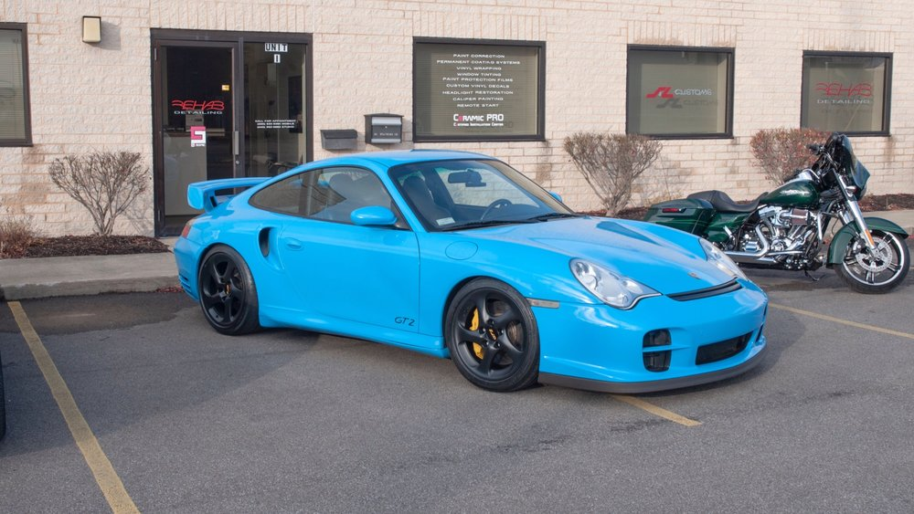 996 Porsche 911 GT2 - Wrapped in Avery Light Blue including Jams and Seats, Wheels Refinished