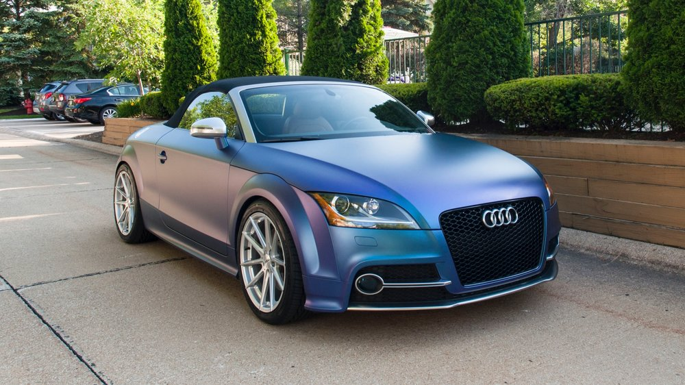 Audi TT-S - Wrapped in KPMF Matte Blue/Purple Iridescent and Satin Chrome, TSW Wheels