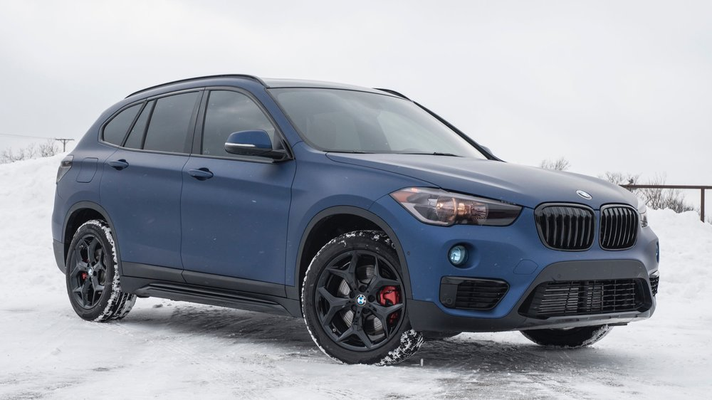 BMW X1 - Wrapped in Avery Matte Midnight Blue, Wheels, Calipers, Tunes, Tint