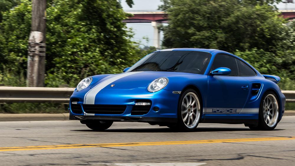 997 Porsche 911 Turbo - KPMF Iced Titanium Blue, Matte Silver Custom Accents, Ceramic Pro