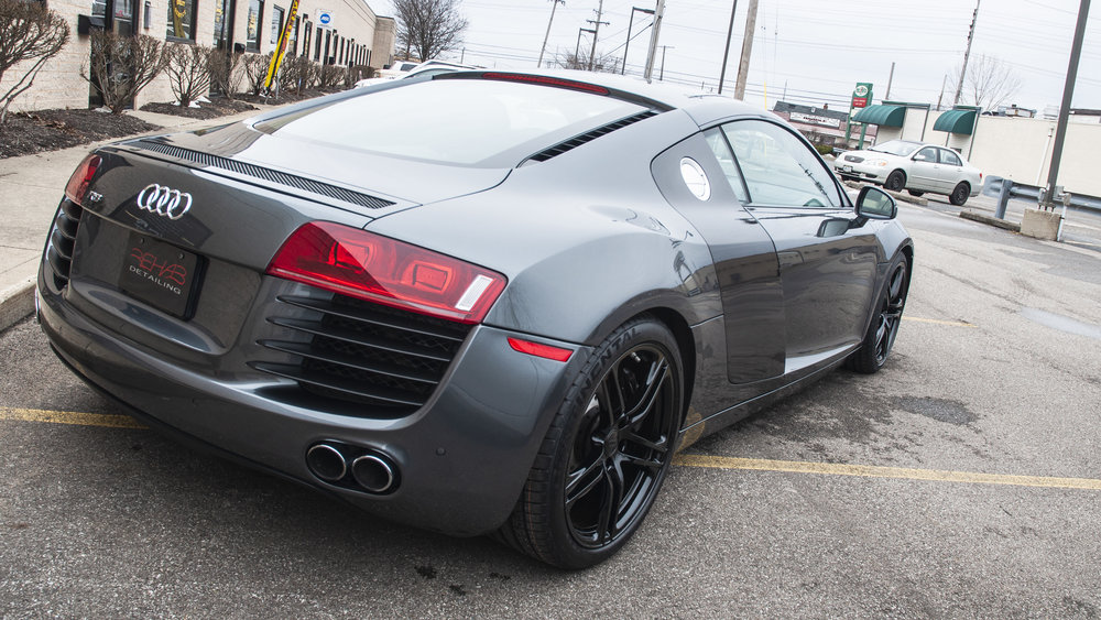 Audi R8 - Custom Vinyl Accents, Wheels Refinished, Actor Detail