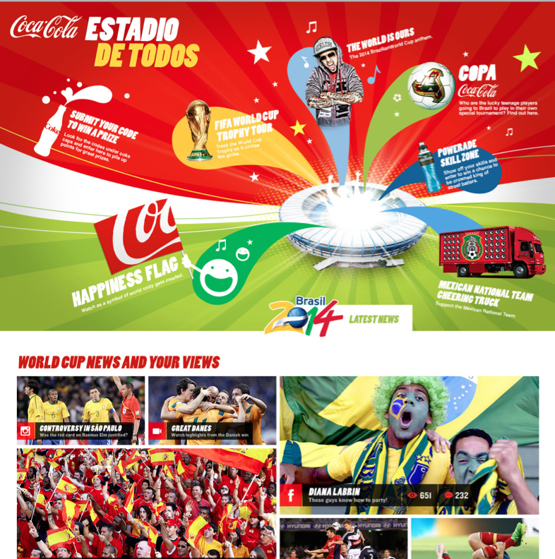 A World Cup experience with Univision and Coca-Cola. Social, web and experiential elements that ended up being significantly less than we intended.