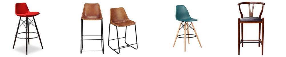 Mid-Century bar stools (L-R): All Modern $312 (set of 2), CB2 $279, Dot & Bo, $184 Target $199