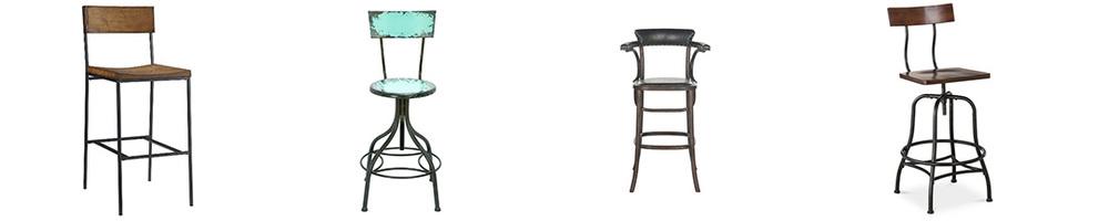 Vintage bar stools (L-R):  Target  $127,  All Modern  $129,  Dot & Bo  $209,  Target  $99