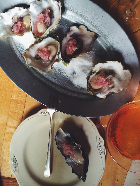 Oysters as pretty as flowers at Thistle in Portland
