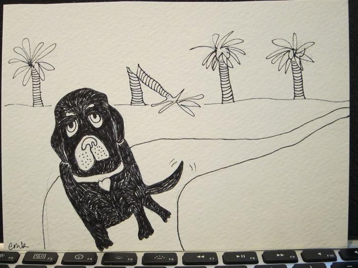 dog + trees