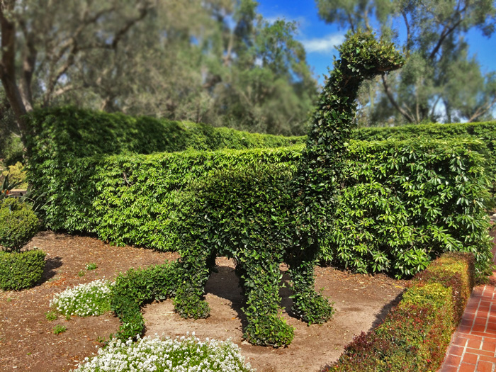 This topiary is extinct