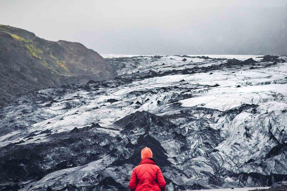 Sólheimajökull Glacier. Photography in Iceland