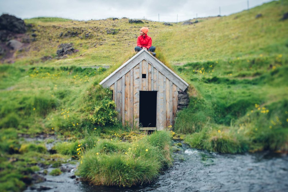 Keldur Turf House in South-Iceland