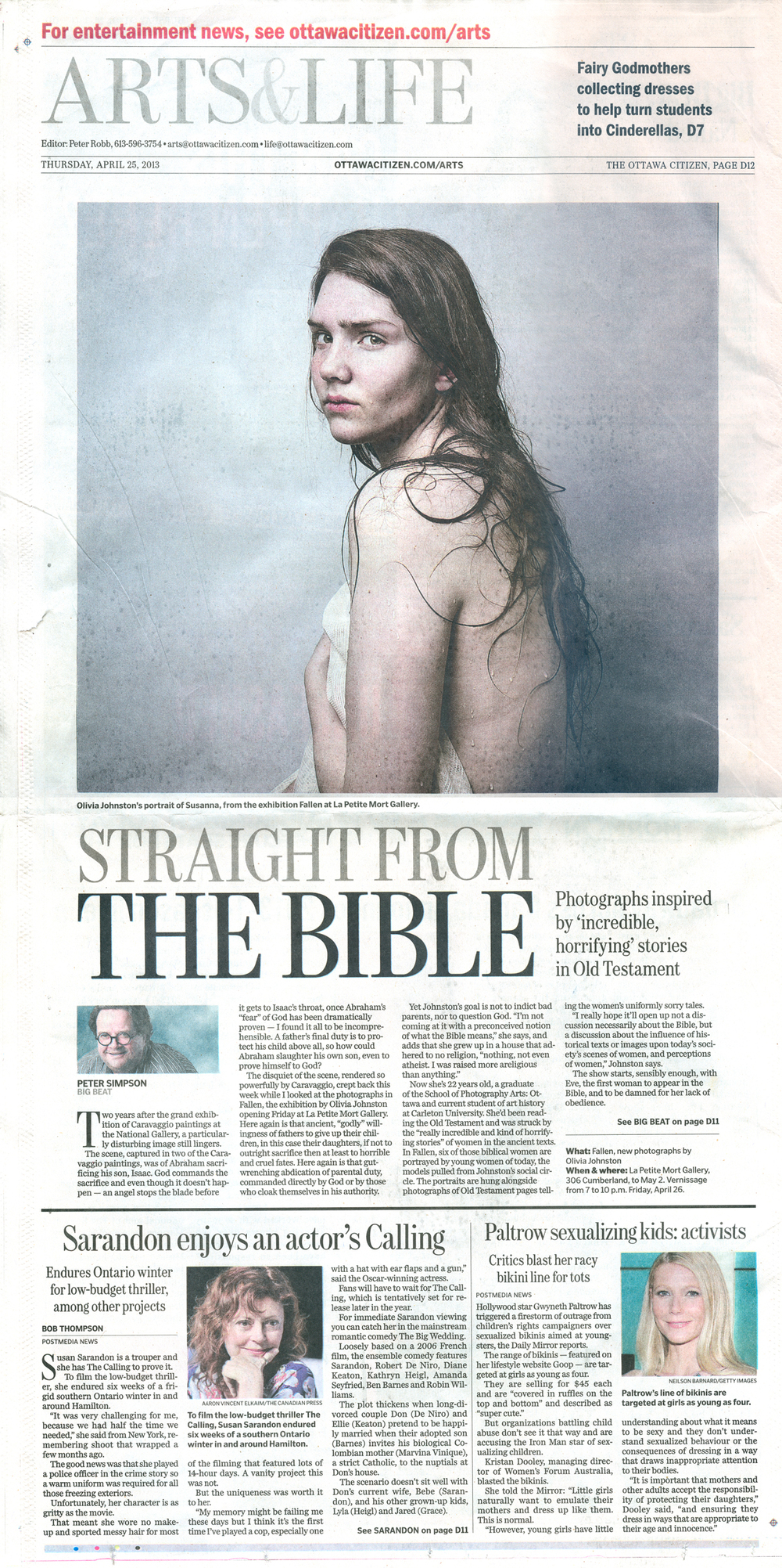 Ottawa Citizen, April 25, 2013